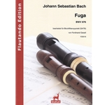 Bach, JS: Arranged by Ferdinand Gesell Fuge BWV 876 for recorders