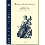 Nicolai, Johann Michael: Sonatas in a minor and D major for Three Viols