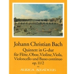 Bach, JC 6 Quintets, op. 11, v. 2: G Major