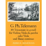 Telemann, GP Trio Sonata 89 in g minor (TWV42:g11)