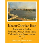 Bach, JC 6 Quintets, op. 11, v. 5: A Major