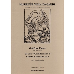 Finger, Gottfried: Sonata 7 Grandoena in d, Sonata 8 Jucunda in A
